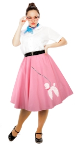 Hey Viv ! Pink Cotton Poodle Skirt