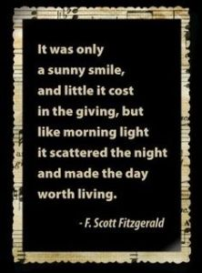 It was only a smile F Scott Fitzgerald